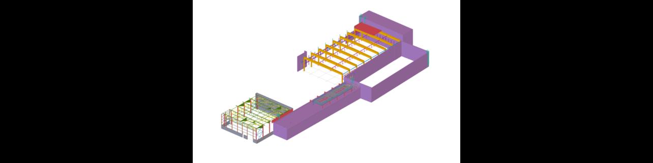 Ocelová konstrukce haly M12